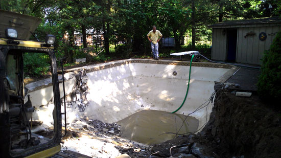 In-ground Swimming Pool Removal Commerce Twp Michigan