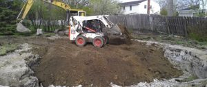 Inground swimming pool excavating and removal Livoina MI